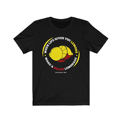 When Life Gives You Lemons (Circular Logo) Unisex Jersey Short Sleeve Tee