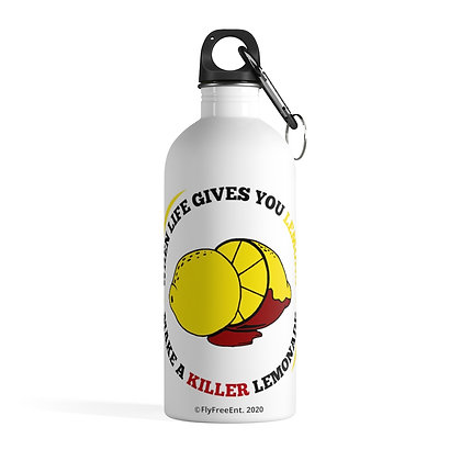 Stainless Steel Water Bottle with Circular Logo