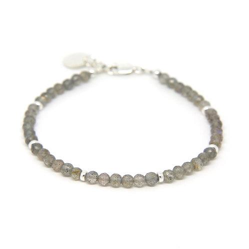 Labradorite sterling silver Portia bracelet