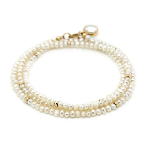 Pearl wrap bracelet/necklace