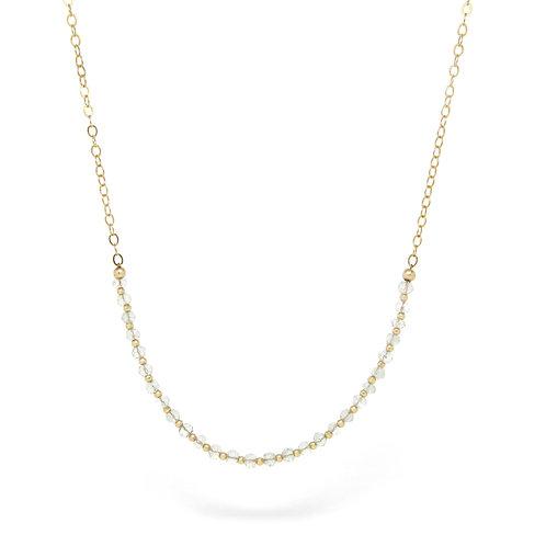Prasiolite (Green Amethyst)  Imogen necklace