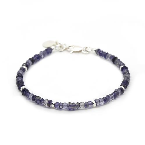 Iolite Portia sterling silver bracelet