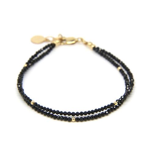 Black Spinel Viola bracelet