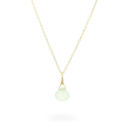 Chalcedony Isabella solid gold necklace