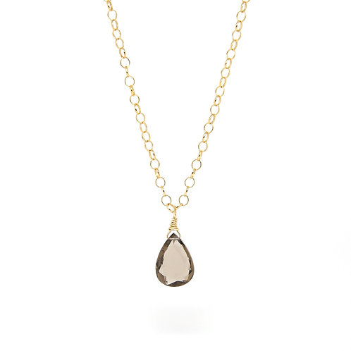 Smokey Quartz Lady M necklace