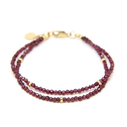 Garnet Viola bracelet