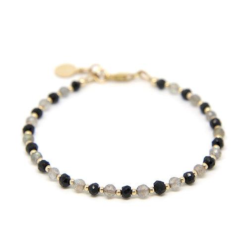 Labradorite & Black Spinel Cressida bracelet