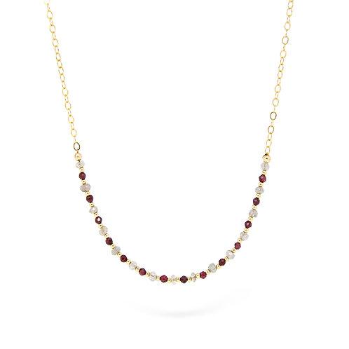Garnet & Labradorite Imogen necklace