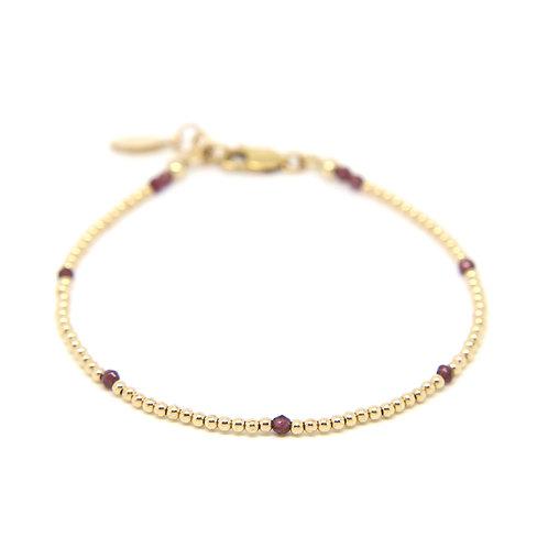 Garnet Ophelia bracelet