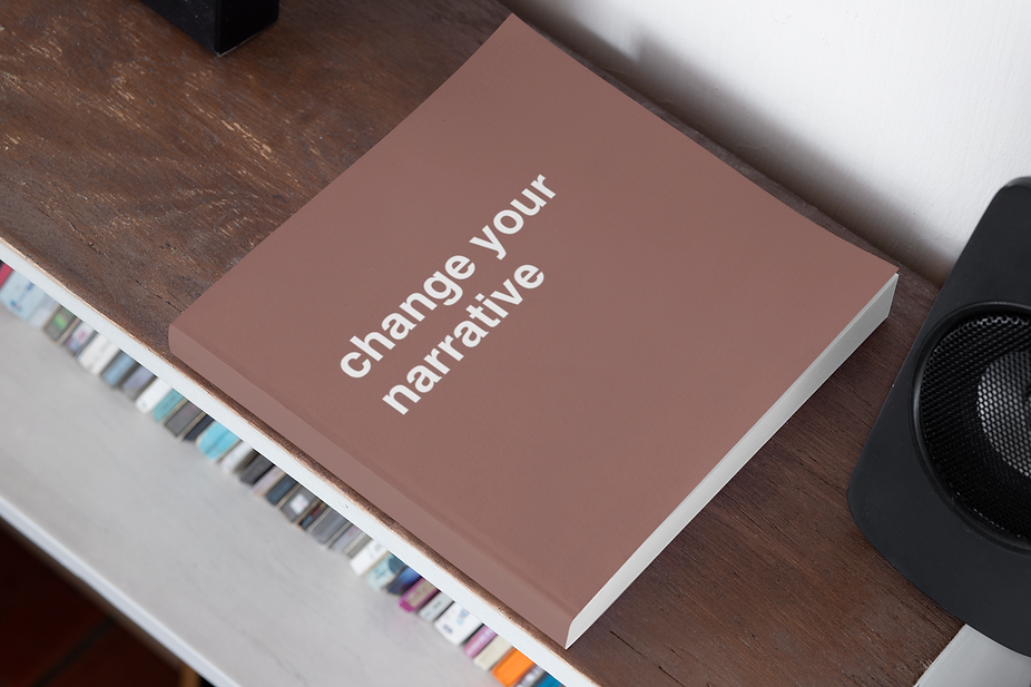 mockup-of-a-square-book-with-a-customiza