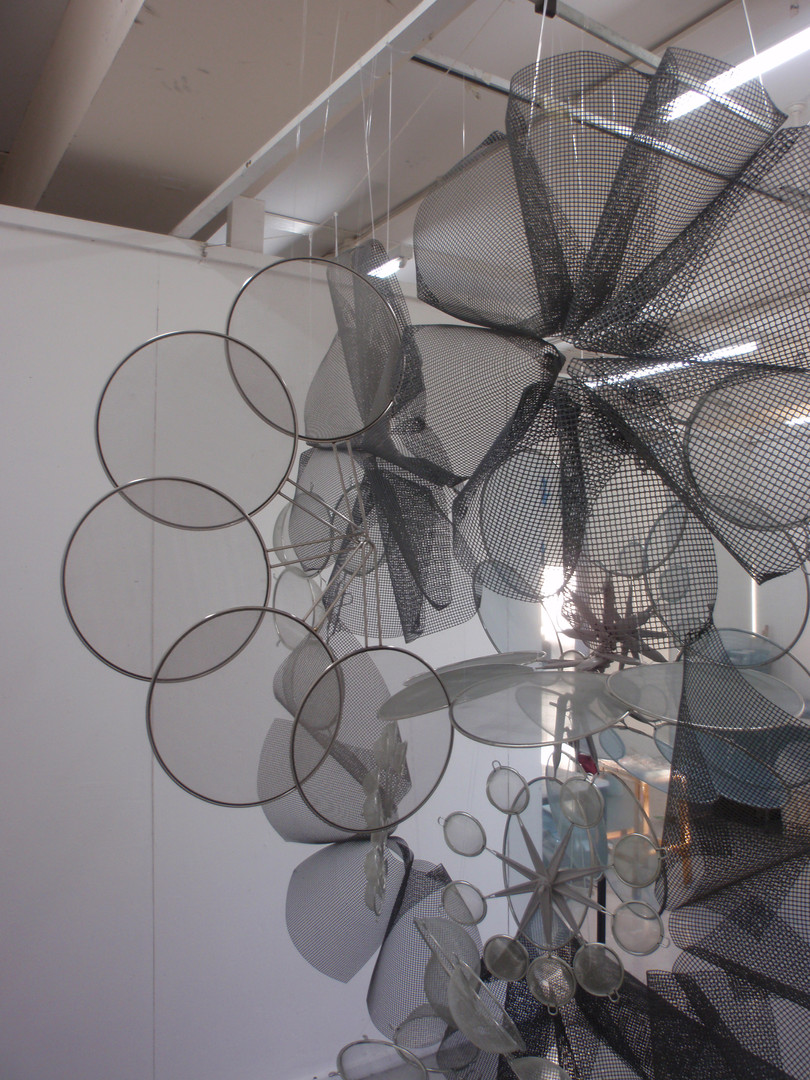 Grey Mas, Mixed media sculpture, 2011