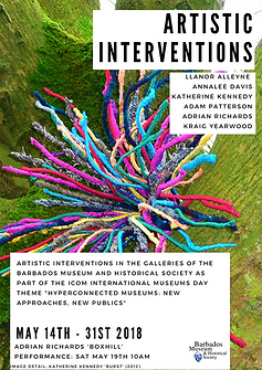 Artistic interventions flyer K. Kennedy.