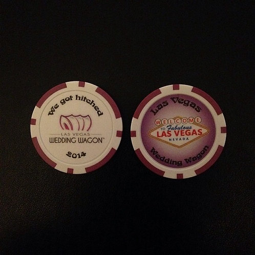Wedding Wagon Poker Chips