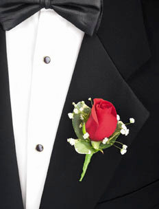 Groom and Guest Boutonniere (single)