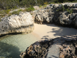 The beach at the private cove