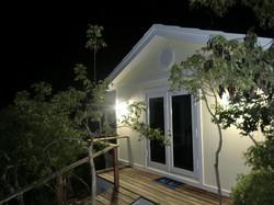 Baywatch cottage at night