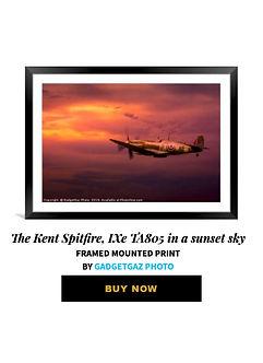 15 The Kent Spitfire, IXe TA805 in a sun