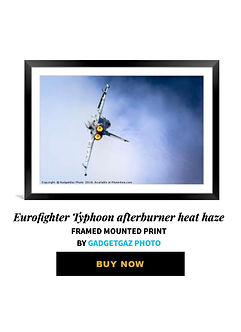 07 Eurofighter Typhoon afterburner heat