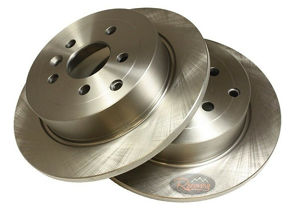 FREELANDER 2 -SOLID -  DRILLED AND GROOVED DISCS - PAIR - REAR