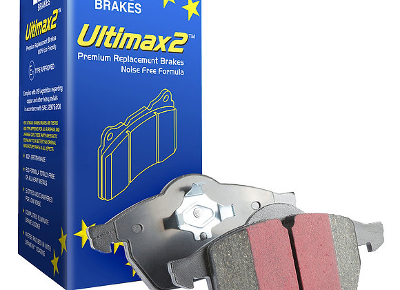 DISCOVERY 1  EBC ULTIMAX - HEAVY DUTY PERFORMANCE PADS - REAR WITHOUT SENSOR - S