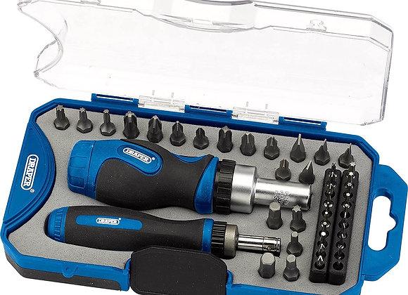Draper 46479 Ratchet Screwdriver and Bit 42 Piece Set