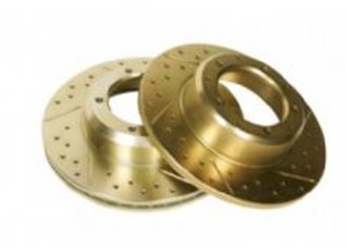 DISCOVERY 1 - SOLID DRILLED AND GROOVED DISCS - PAIR (LR017953DG) - REAR