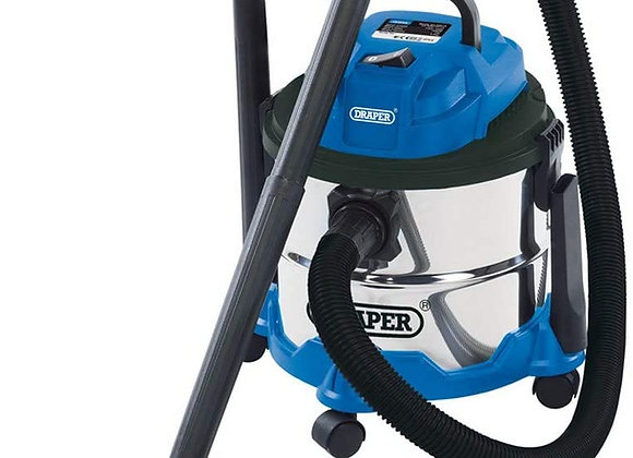 Draper 20514 Wet and Dry 1250W Vacuum Cleaner with 15 Litre Stainless Steel Tank