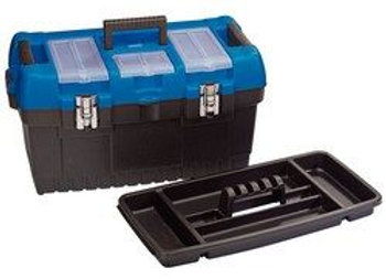 Draper 53887 Large Tool Box with Tote Tray, Multi-Colour, 560 mm