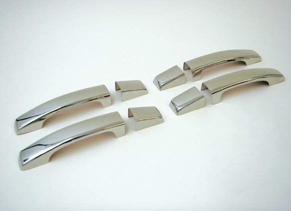 DISCOVERY 2  STAINLESS STEEL/CHROME - DOOR HANDLE SET