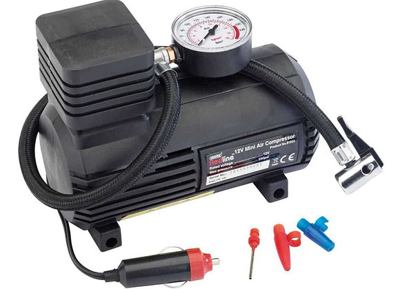 Draper Redline 81023 12 V Mini Analogue Air Compressor by Draper