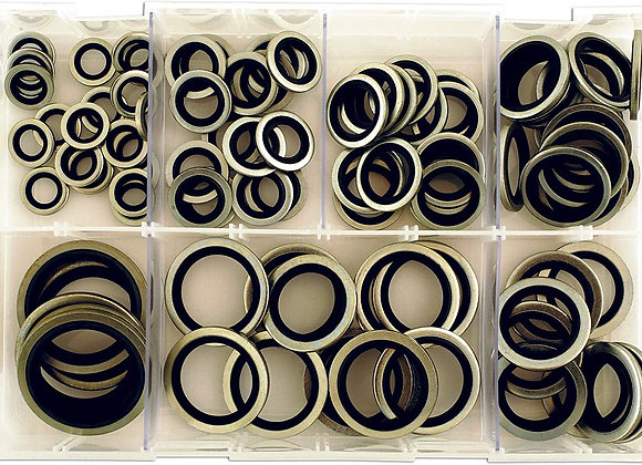 Connect - Assorted Bonded Seal Washers Imp Box - 100 Pieces - 31874