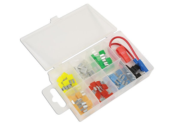 Connect - Micro 2 Blade Fuse & 2 Fuse Holders Assorted Box - 63 Pieces