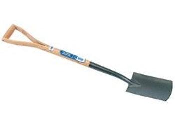 Draper 14305 Carbon Steel Border Spade with Ash Handle