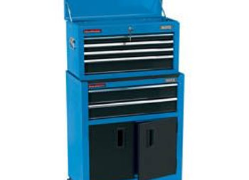 Draper 19563 Blue Combined Roller Cabinet and Tool Chest (24)