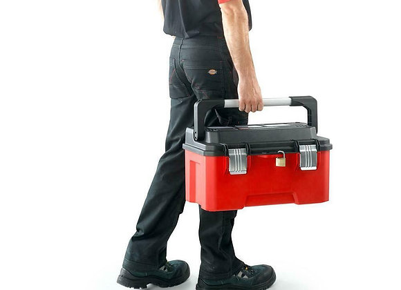 """Facom 20"""" Large Professional Tool Box """" Bright Red """" Good Toolbox"""