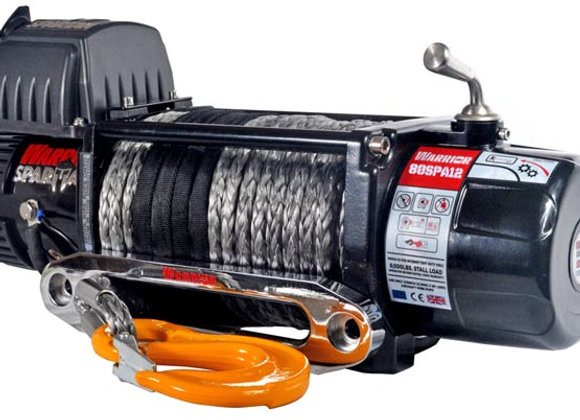 8000LB WARRIOR SPARTAN WINCH - SYNTHENTIC ROPE