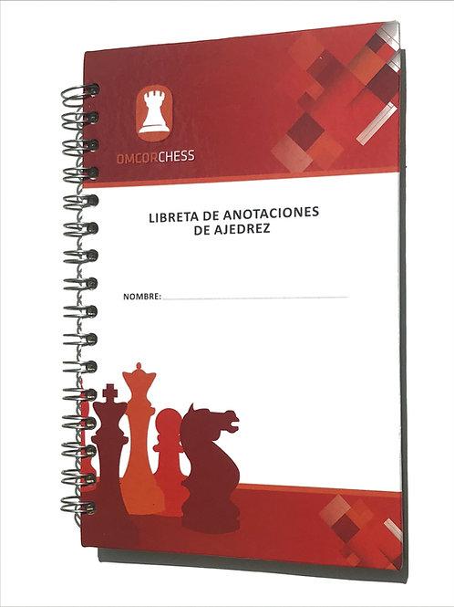 Cuaderno de Anotación de Ajedrez 100 hojas con autocopia