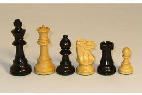 "Juego de Ajedrez Piezas de Madera Black French Chess Men 3.75""Black & Natural Bo"