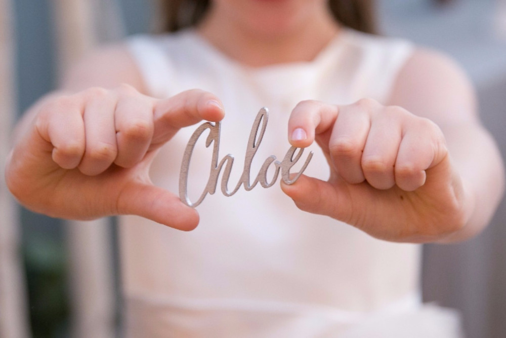 Cute laser cut name tags