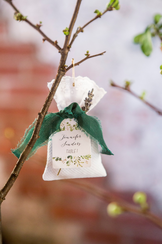 Dried Lavender Wedding Favors & Escort Card