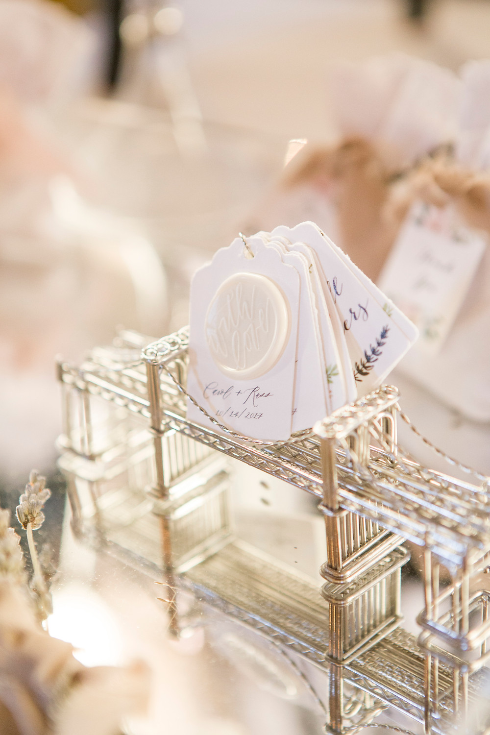 Seal Wax Tags for Wedding Favors by Flying Little Birds