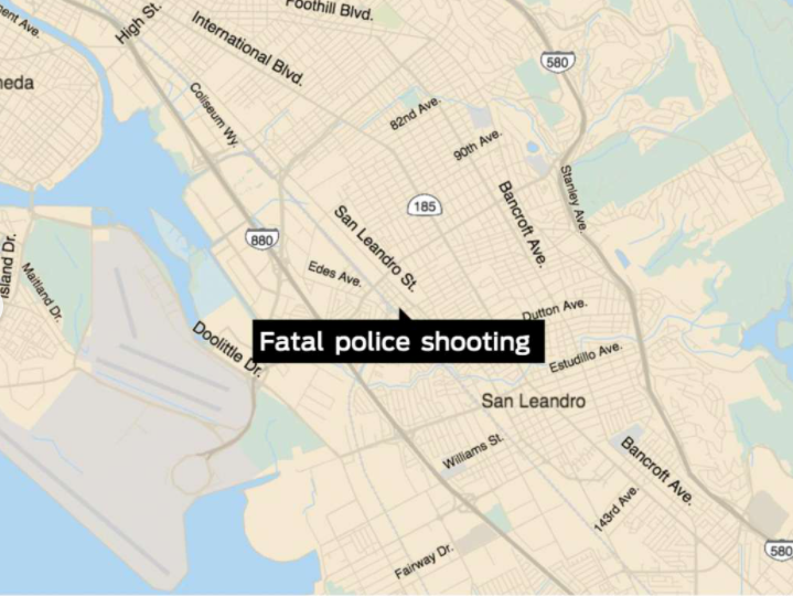 San Leandro police chase ends with fatal shooting of man allegedly armed with assault rifle, The San Francisco Chronicle