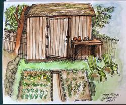 Backyard Shed and Garden