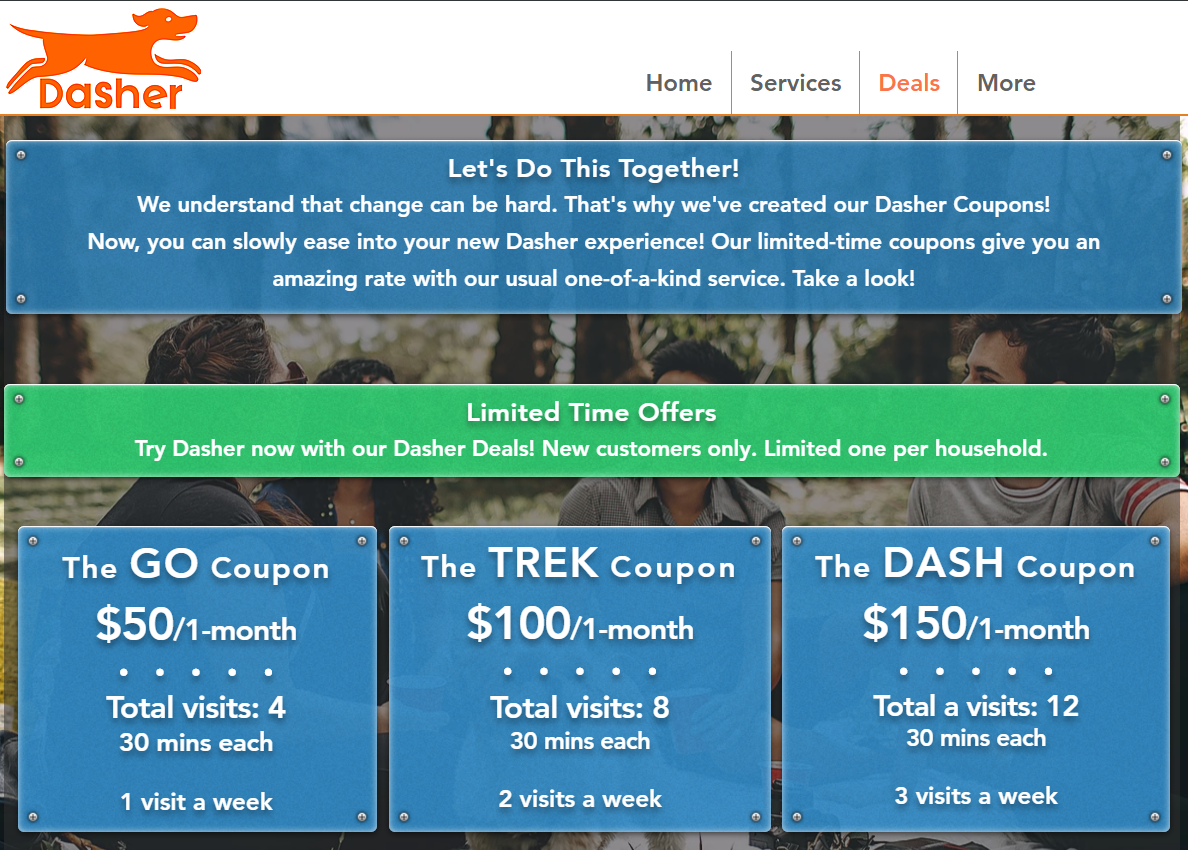 Get To Know Us With New Dasher Coupons!