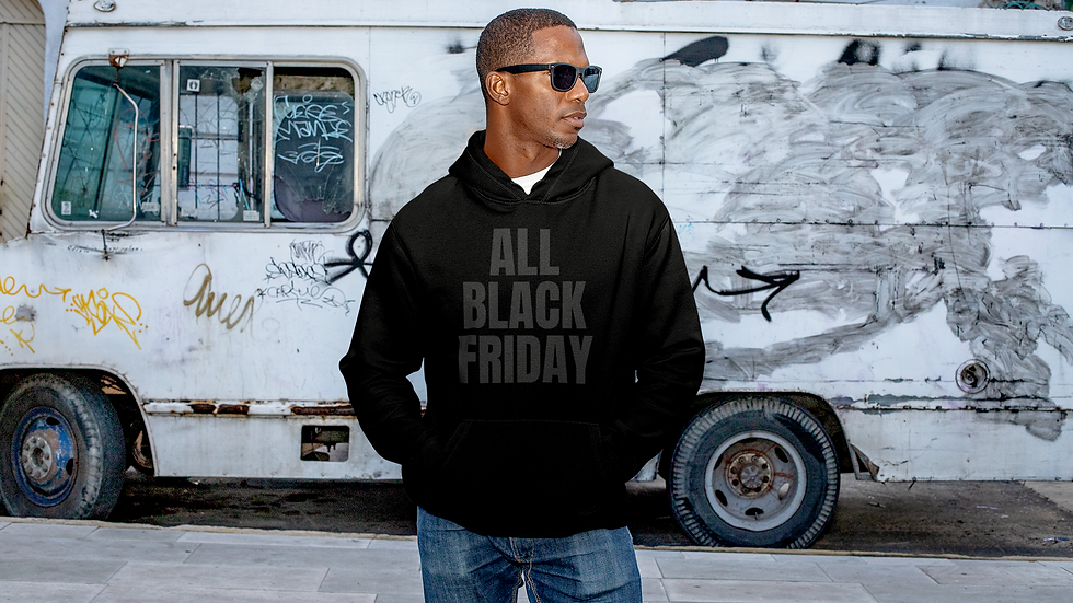 ALL BLACK FRIDAY SUPPORT HOODIE