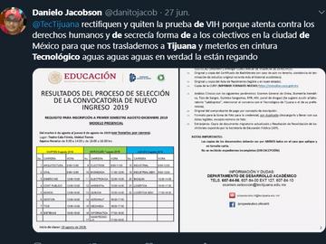 Piden prueba de VIH como requisito en Tec de Tijuana