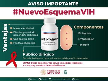 Nuevo Medicamento para personas que viven con VIH en México -IMSS