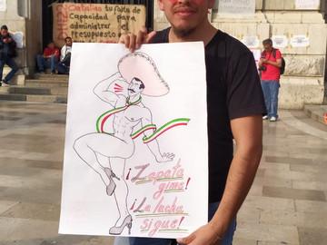 """Los LGBTTTI en defensa de Bellas Artes """"Zapata vive"""""""