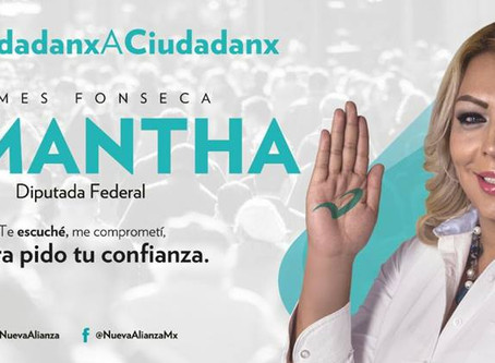 Samantha Fonseca, candidata transexual  a Diputada Federal por el Dtto. VI