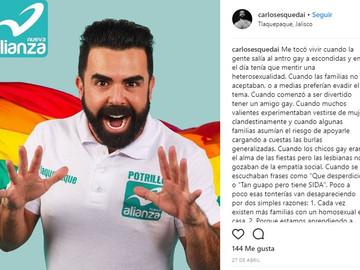 Fuera del Closet Carlos Esqueda causa gran polémica con su campaña política